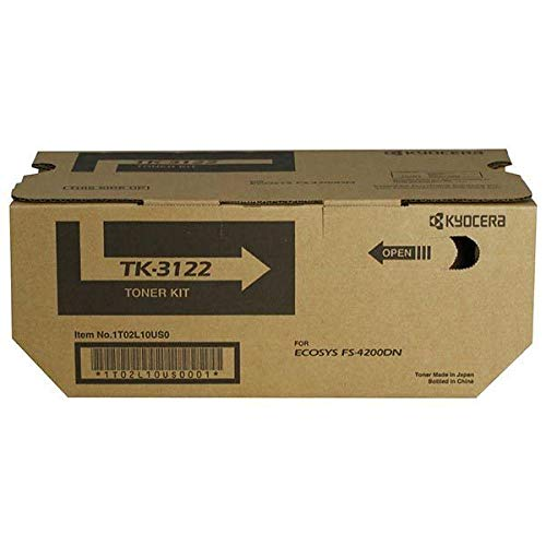 Kyocera 1T02L10US0 Model TK-3122 Toner Cartridge for Ecosys FS-4200DN/M3550idn, Genuine Kyocera, Up to 21000 Pages, Black