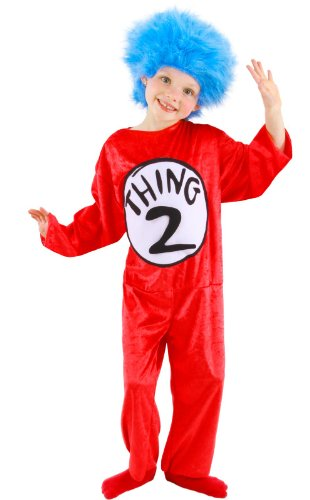 Dr. Seuss Thing 1 and 2 Kid's Costume (XS, 2T-4T) by elope (Costume 2 En 1)
