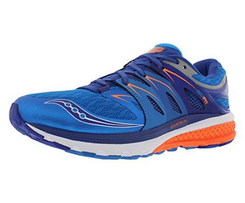 Saucony Men's Zealot iso 2 Running Shoe, Blue/Orange, 10.5 M US