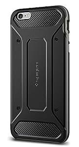 Spigen SGP11666 - Funda para iPhone 6 Plus / 6S Plus, Negro/Plata