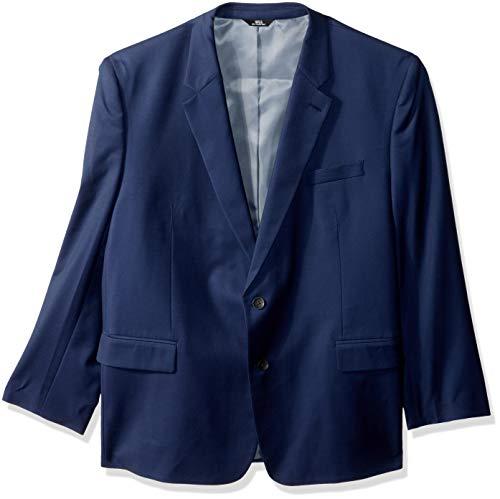 J.M. Haggar Men's Texture Weave Stretch Classic Fit Suit Separate Coat, Midnight, 46S