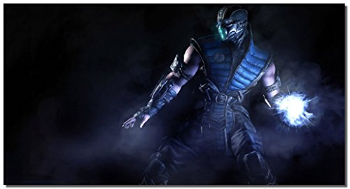 picture-sensations-framed-canvas-art-print-mortal-kombat-x-sub-zero-video-games-wall-canvas-art-36x2
