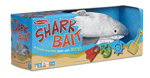 Melissa & Doug Shark Bait Game With Zippered Plush Shark -