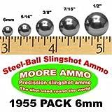 Moore Ammo 1,955-pack 6mm Steel-Ball slingshot ammo BBs Pellets (3-3/4 lbs)