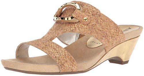 - Anne Klein Women's Teela Wedge Sandal Light Gold Cork, 7 M US