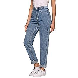 Women's Jeans, Evensleaves High Waist Solid Vintage Straight-Leg Denim Pants