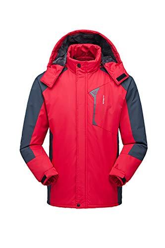 Aperto Impermeabile Pioggia Red Montagna Outwear Gli Uomini Di D'inverno Vosujotis Della All ZAOva