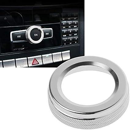 Semoic Car Styling Air Conditioning Volume Knob Decoration for Mercedes A B E Class GLK GLA CIA GLE ML GL Blue