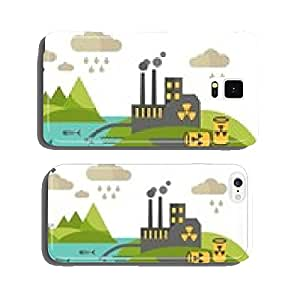 Panoramic landscape with concept pollution cell phone cover case Samsung S5