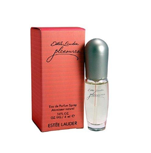 (Estee Lauder Pleasures Travel Mini Miniature Eau de Parfum Spray .14oz/4ml - In Box - Pleasures)