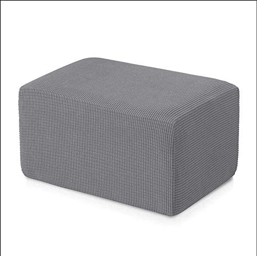 skyfiree Stretch Ottoman Slipcovers Rectangle Folding Storage Footstool Footrest Covers Removable Folding Storage Stool Furniture Protector for Living Room Grey