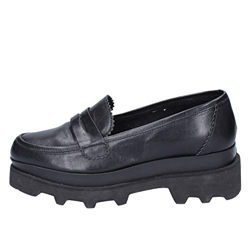 2b93203dc5c173 Fornarina Loafers-Shoes Womens Leather Black 9 US