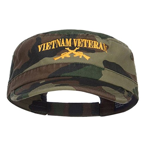 E4hats Vietnam Veteran Embroidered Camo Army Cap - Camo OSFM
