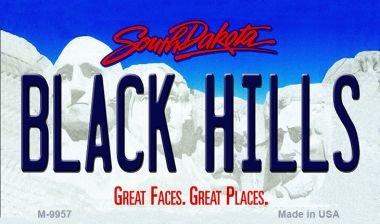 Black Hills South Dakota State Magnet Novelty M-9957 MINI Licence Plate (Black Hills Novelty)