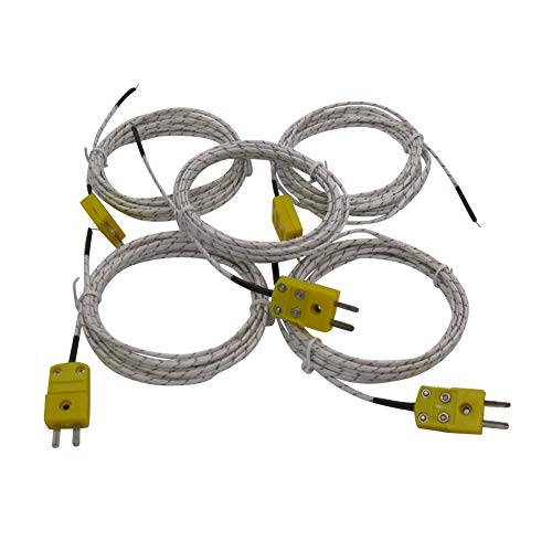 5pcs 3M K Type Mini-Connector Thermocouple Temperature Probe Sensor Measure Range -40~350°C ()