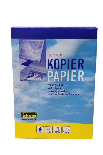 Idena 215021 - Kopierpapier DIN A3, 500 Blatt