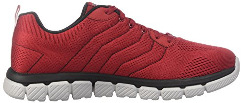 Skechers Mens Mens Skech Flex 2.0 Milwee Fashion Sneaker Rosso / Nero