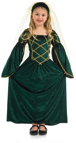 [Maid Marion Tudor Girls Childs Fancy Dress Costume - L 54inch Height] (Childrens Fancy Dress Costumes Uk)