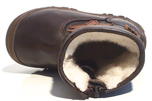 FRODDO Leder TEX Stiefel Schafwolle gefüttert Reißverschluss braun