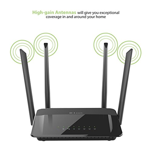 D-Link AC1200 Wireless WiFi Router – Smart Dual Band – Gigabit – MU-MIMO – High Power Antennas for Wide Coverage – Easy Setup – Parental Controls (DIR-842) by D-Link (Image #4)