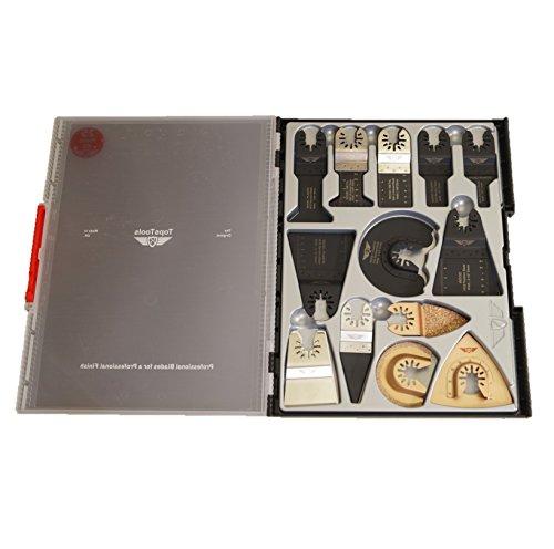 25 x TopsTools SW_FAK25 Fast Fit OMT Mix Blades Box Set for Dewalt Bosch Fein Makita Milwaukee Craftsman Chicago Ridgid Ryobi Rockwell (HyperLock) Porter Cable Multi Tool Accessories