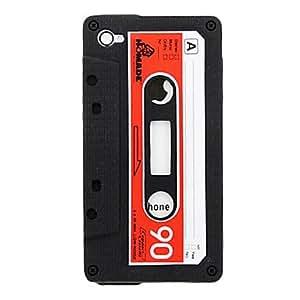 HOR Tape la caja del silicio del patrón para el iPhone 4/4S (colores surtidos) , Rojo
