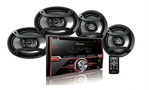 (Pioneer FXT-X7269BT Package: CD Receiver Double Din, Pair 6.5