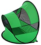 Pet Life Modern Curved' Wire-Folding Collapsible Travel Lightweight Pet Dog Crate Tent w/Travel Bag, One Size, Green