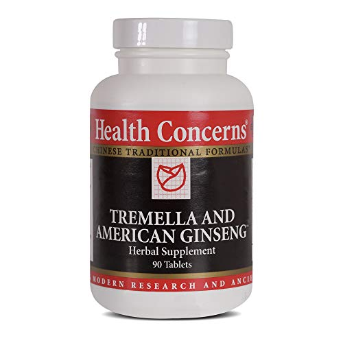Health Concerns – Tremella & American Ginseng – Herbal Supplement – Supports Immune, Lung and Respiratory Function – 90 Tablets Review