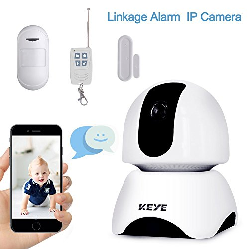 WIFI Security Camera Indoor?1080P Home Security System IP Camera with Two-way Audio, Door Window Sensor, PIR Motion Detector, Remote Control for Office/Company/Store Security Baby/Elder/Pet Monitoring