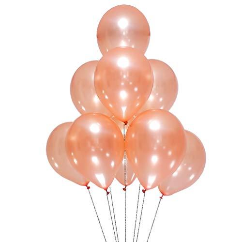 AZOWA Rose Gold Balloons 12 inch Pack of 100 Latex Balloon