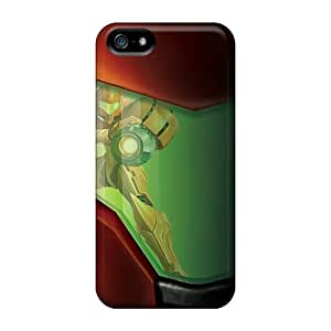 Excellent Cell-phone Hard Covers For Apple Iphone 5/5s (XoS7226LXcN) Unique Design HD Samus Metroid Pattern