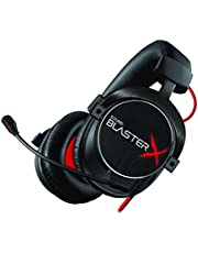 Creative Labs Sound BlasterX H7 Tournament Edition - Auriculares para Juegos (con Sonido Envolvente HD 7.1), Color Negro