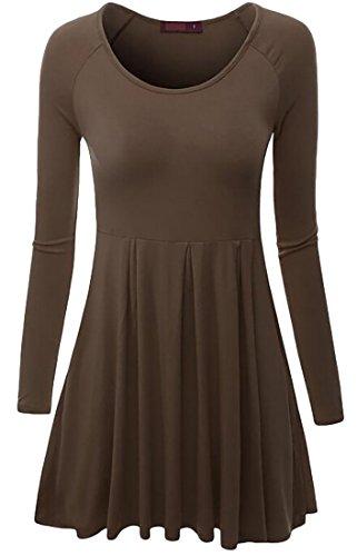 Pleated Long Sleeved Dress - 4