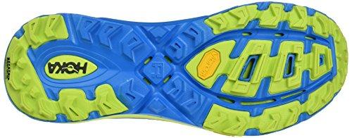 Hoka One Mafate Speed 2, Zapatillas de Running para Asfalto para Hombre Azul (Cyan/acid)
