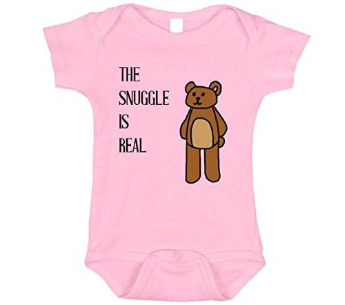 The Snuggle is Real Baby Onesie (Pink, 0-3)