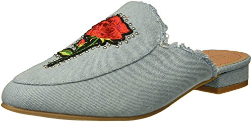 Yoki Women's Willas-71 Mule, Light Denim, 11 M (Denim Mules)