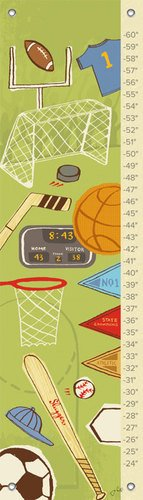 (Oopsy Daisy All Sport by Jon Cannell Growth Charts, 12 by 42-Inch)