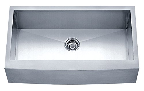 (Dakota Signature Series Single Bowl Apron Front Zero Radius 16g Stainless Steel Sink Package)