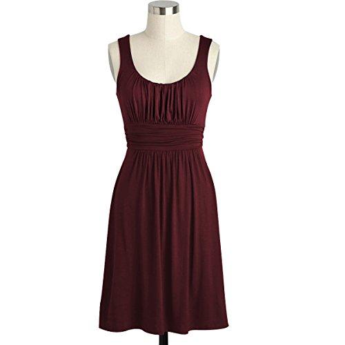 Lacle Women Kneen Length Summer Sleeveless Formal Party Dress(Burgundy Medium) (Plus Size Indian Fancy Dress)