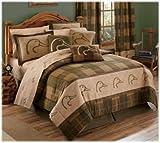 Ducks Unlimited Plaid Comforter Set - King Size