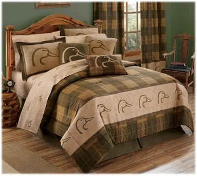 Ducks Unlimited Plaid Comforter Set - Queen Size