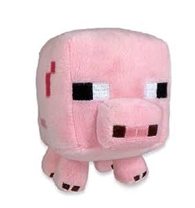 "Amazon.com: Minecraft Baby Pig 7"" Plush: Toys & Games"