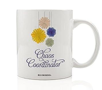 Chaos Coordinator Mug Working Mother Event Wedding Planner Teacher Mom Boss Lady Christmas Gift Birthday