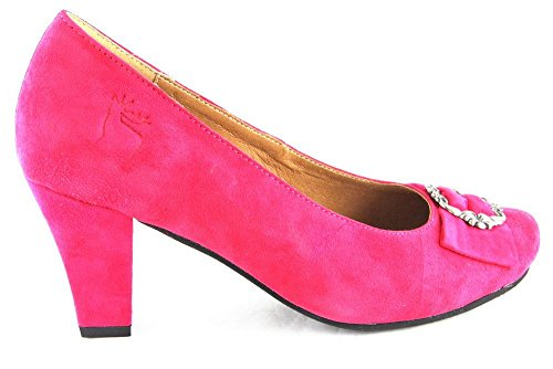 Shoes High Pumps Real Shoes 2103 Leather Heels HIRSCH Kogel Pink Costume ZaOq1xxF