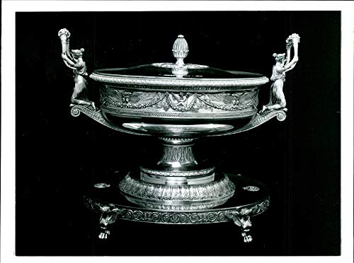 (Vintage photo of Pair Of french Imperial Silver-gilt Soup Tureens. )