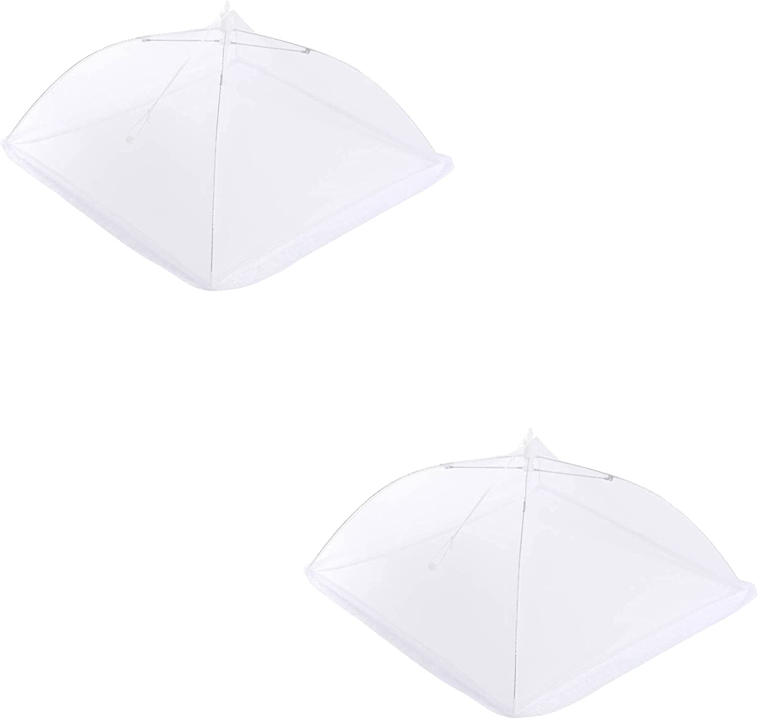 Food Covering Tent, 2pcs White Meshing Screen Food Cover (17