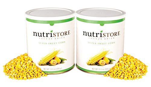 Freeze Dried Super Sweet Corn by Nutristore | Pack of 2 | 31 Total oz | Amazing Taste | Healthy Snack | Survival Food