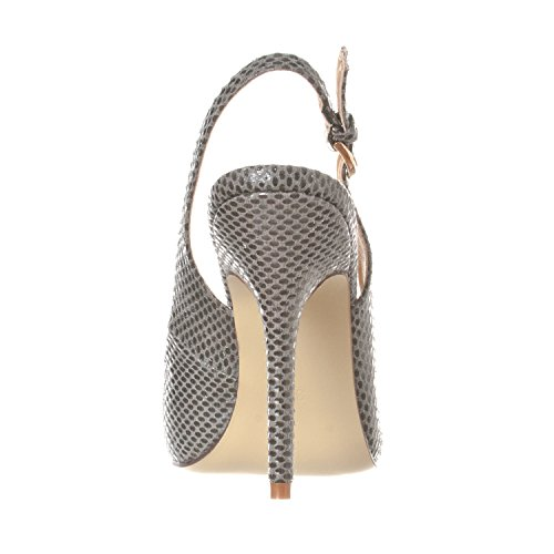 Pointed Women's Sling Grey Pump Snake Stiletto Toe Heels Lucy Riverberry Back pawE44