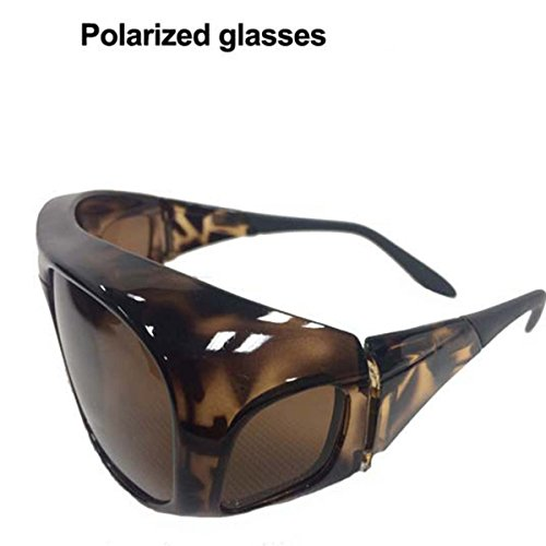 Aventik Fishing & Outdoor Sports Sun-glass Polarized Men & Women, Fashion Durable Shatterproof, 100% Block Harmful UV, Can Fit Over Regular - Top Over The Glasses